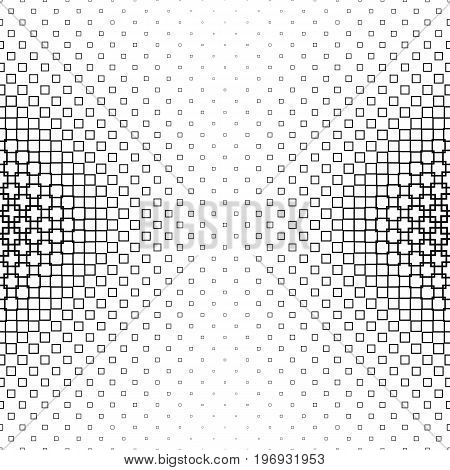 Black and white abstract square pattern background