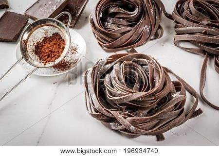 Raw Chocolate Pasta