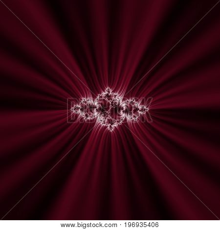 Dark red fractal. Julia fractal. Abstract illustration. Focus in the centre.