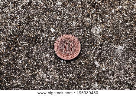Brass Old Bitcoin Coin