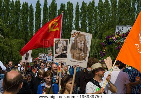 BERLIN - MAY 09, 2015: The action