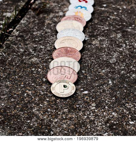 Digital currency bitcoin litecoin dogecoin peercoin coins