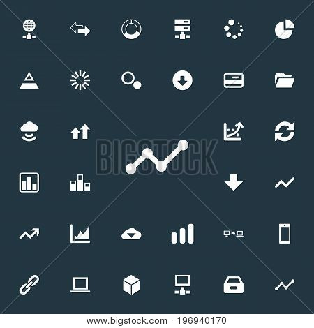 Elements Plastic Money, Cycle Chart, Progress And Other Synonyms Spread, Fiqure And Storage.  Vector Illustration Set Of Simple Data Icons.