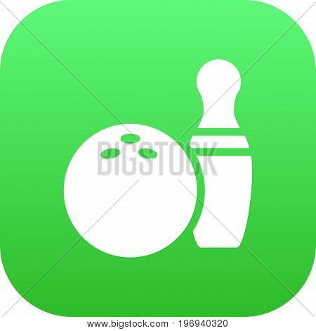 Vector Kegling Element In Trendy Style.  Isolated Bowling Icon Symbol On Clean Background.