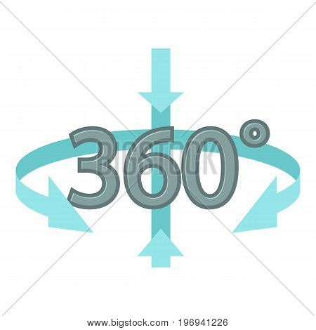 Rotation icon. Cartoon illustration of rotation vector icon for web on white background