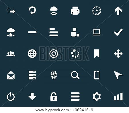 Elements Variety, Refresh, Upward Direction And Other Synonyms Begin, Drawer And Zoom.  Vector Illustration Set Of Simple Practice Icons.