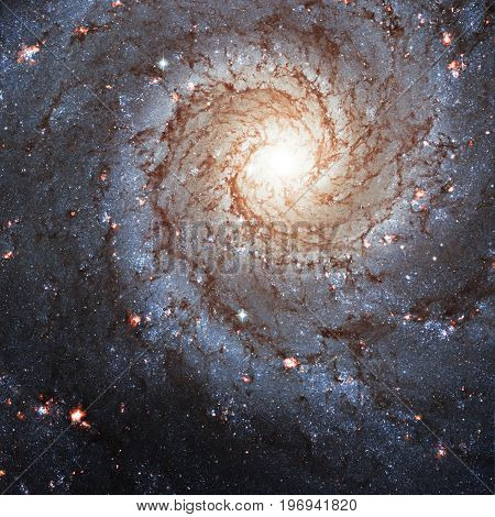 Messier 74,  Ngc 628 Spiral Galaxy In The Constellation Pisces..elements Of This Image Are Furnished