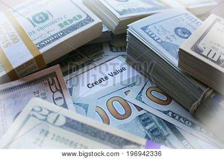 Create Value With Money Close Up High Quality
