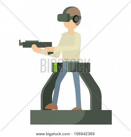 Game gun icon. Cartoon illustration of game gun vector icon for web on white background