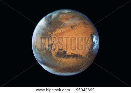 Mars Planet, Isolated On Black..elements Of This Image Are Furnished By Nasa.