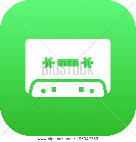 Vector Tape Element In Trendy Style.  Isolated Cassette Icon Symbol On Clean Background.