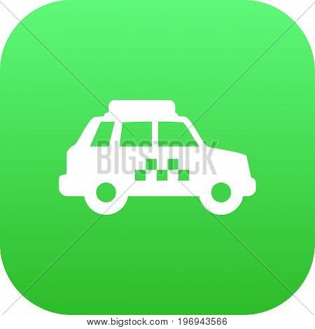 Vector Taxicab Element In Trendy Style.  Isolated Taxi Icon Symbol On Clean Background.