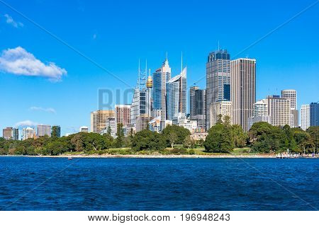 Sydney Cbd Central Business District Cityscape On Clear Day