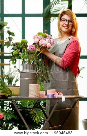 Photo of florist in glasses