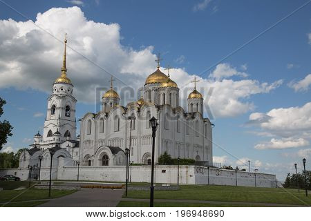 Ascension cathedral Vladimir Russia June 2017 wide shot
