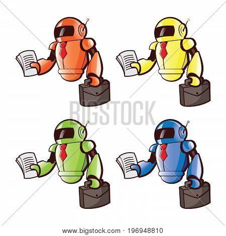 Robot on a white background. Robot illustration. Robot vector.  Robot Vector illustration.
