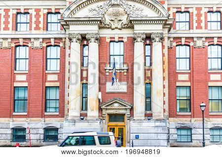 Montreal, Canada - May 26, 2017: Ecole Des Beaux-arts Famous Art School Exterior In City In Quebec R