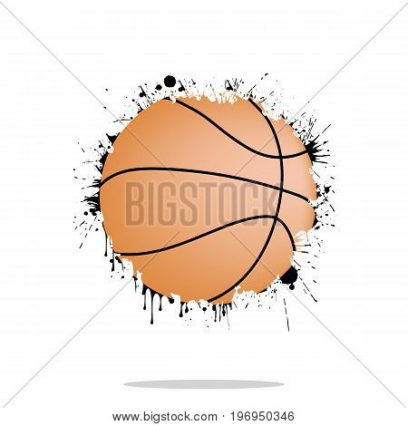 Background Abstract Basketball Ball From Blots