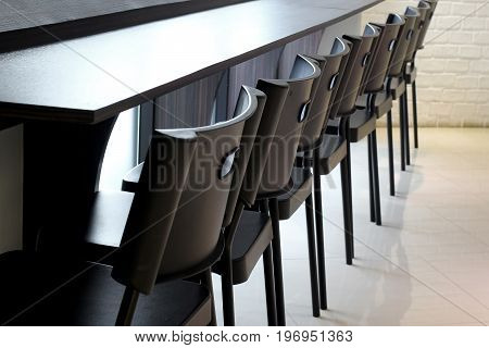 Chair In Front Of Counter Bar