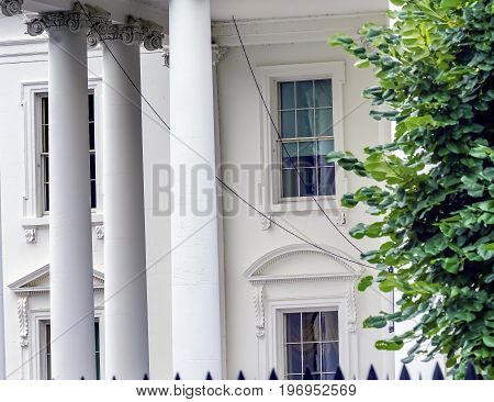 White House Columns Side View Pennsylvania Ave Washington DC