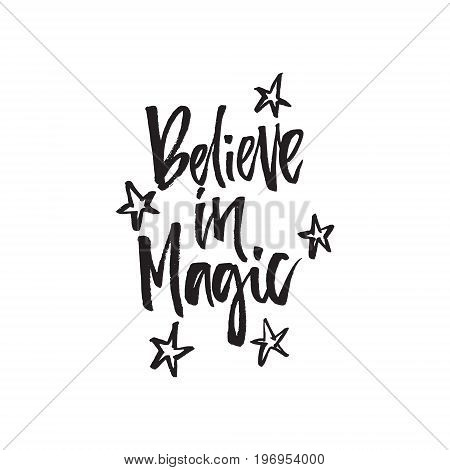 Believe in magic - hand drawn lettering
