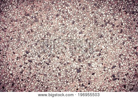 Purple gravel texture. Gravel texture for design. Gravel texture in classic style. Gravel texture and small stone background