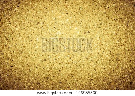 Gravel texture for design. Yellow gravel texture. Gravel texture and small stone background. Gravel texture in vintage tone