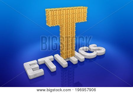 T Made Of Lies On Ethics 3D Illustration