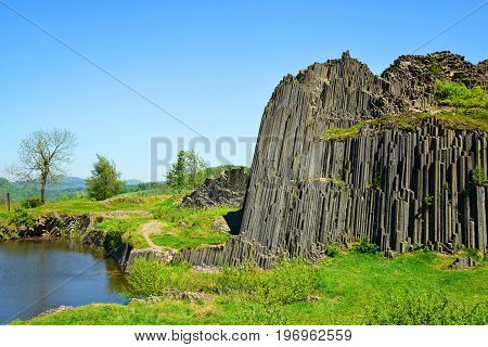 National Natural Monument of Panska Skala near Kamenicky Senov in the Czech Republic.