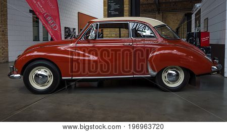 BERLIN - MAY 10 2015: Vintage car Auto Union 1000. The 28th Berlin-Brandenburg Oldtimer Day