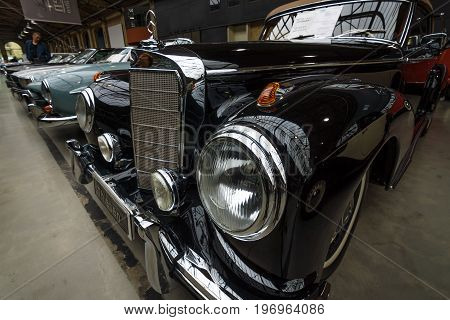 BERLIN - MAY 10 2015: Limousine Mercedes-Benz 300 S Cabriolet (W 188 I) 1953. Produced 203 cars. 28th Berlin-Brandenburg Oldtimer Day