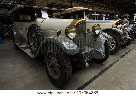 BERLIN - MAY 10 2015: Vintage car of the German manufacturer NAG D4 10/45 Phaeton. 28th Berlin-Brandenburg Oldtimer Day