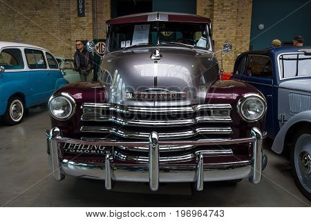 BERLIN - MAY 10 2015: Pickup truck Chevrolet Advance Design 3100. 28th Berlin-Brandenburg Oldtimer Day