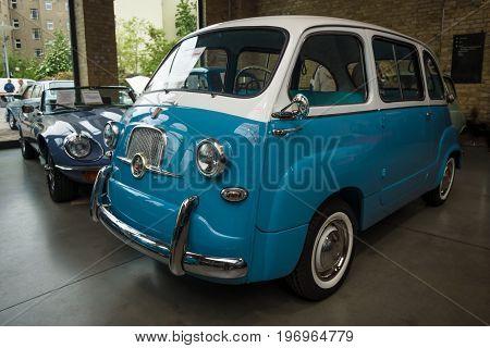 BERLIN - MAY 10 2015: Mini MPV (multi-purpose vehicle) Fiat 600 Multipla. 28th Berlin-Brandenburg Oldtimer Day