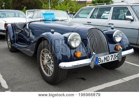 BERLIN - MAY 10 2015: Sports car Morgan Plus 8. 28th Berlin-Brandenburg Oldtimer Day