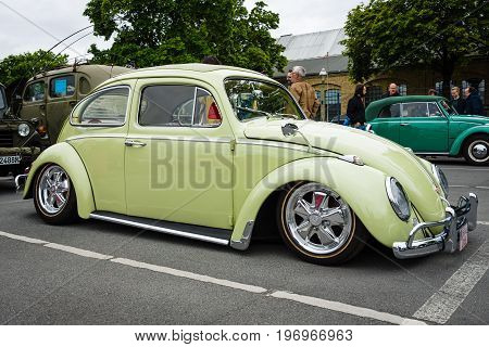 BERLIN - MAY 10 2015: Custom version of the classic car Volkswagen Beetle. 28th Berlin-Brandenburg Oldtimer Day