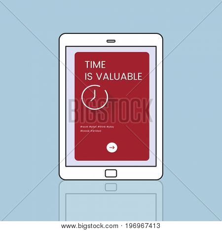 Time concept is on digital device icon design