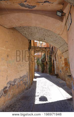 Street view of town Orvieto, Umbria, Italy
