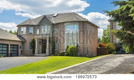 Luxury house in the suburbs of Toronto, Canada.