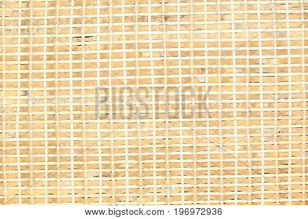 weaved bright straw pattern detail as background