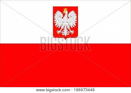Flag of Poland is a parliamentary republic in Central Europe. Vector illustration