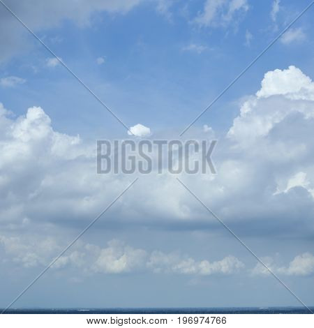 blue sky with clouds summer background Nature, Himmel, Impress,