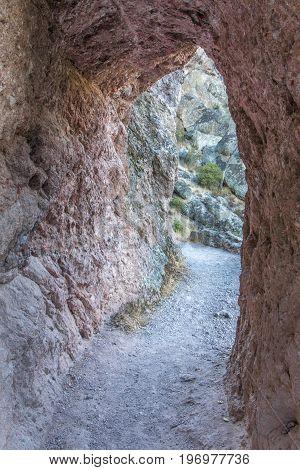 Tunnel Rock High Peaks Trail. Pinnacles National Park, California, USA.