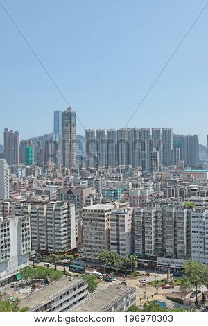 hong kong downtown at day