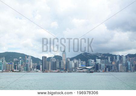 Hong Kong skylines at day