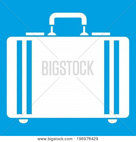 Diplomat icon white isolated on blue background vector illustration