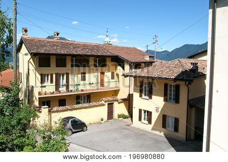 Houses At The Old Village Of Barca
