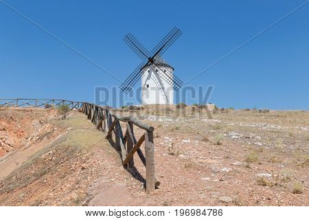 Windmill near Alcazar de San Juan Castile region Spain
