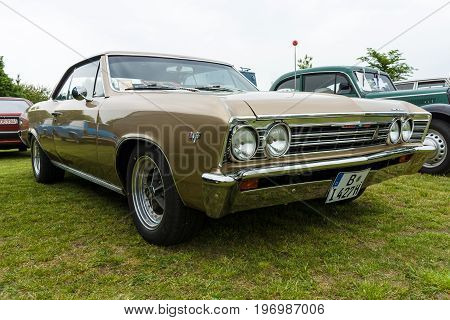 PAAREN IM GLIEN GERMANY - MAY 23 2015: Mid-size car Chevrolet Chevelle (First generation). The oldtimer show in MAFZ.