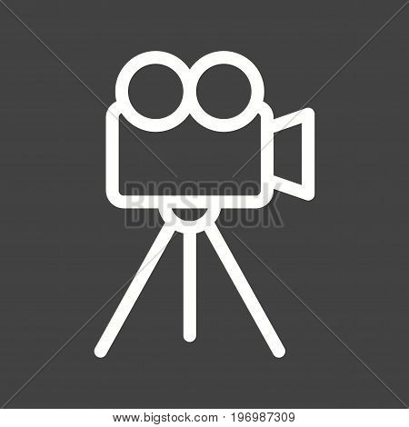 Video, camera, tv icon vector image. Can also be used for news and media. Suitable for mobile apps, web apps and print media.